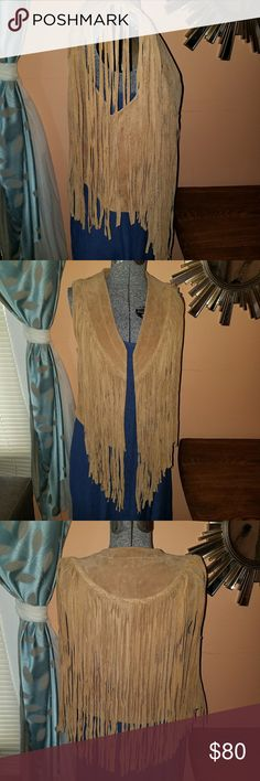 100% genuine leather vest Boho chic leather vest for all my fashion lovers Jackets & Coats Vests