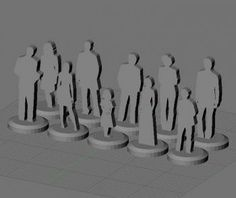 3D printing figurines from SVG in Blender.