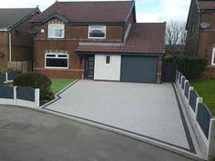 We are Manchester's Premier Installer of Resin Driveways, with the UK's largest indoor resin driveway showroom. Half Price Installation Offer Now On. Front Garden Ideas Driveway, Modern Driveway, Driveway Design, Permeable Driveway, Concrete Driveways, Driveway Landscaping, Imprinted Concrete Driveway, Resin Driveway, Paver Stone Patio