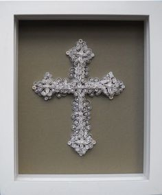 paper quilling - cross: