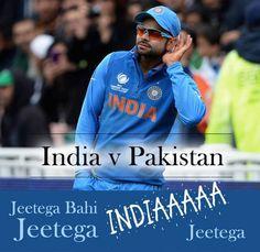 Virat #Kohli wants to hear the hymn louder, Jeetega bahi jeetega INDIA jeetega #IndvsPak