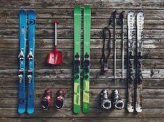 Ski Equipment Cross Stitch Pattern