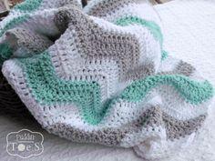 Crochet Baby Blanket - Mint Green - Crochet Blanket - Chevron Stripes - Gray Chevron - Baby Nursery by puddintoes on Etsy https://www.etsy.com/listing/197342749/crochet-baby-blanket-mint-green-crochet