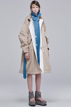 See the Sacai pre-spring/summer 2016 collection. Click through for full gallery