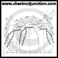 Winter Trio Line Art – Chestnut Junction