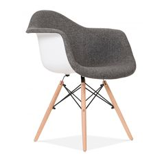 Charles Eames Upholstered Grey DAW Chair