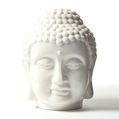 White Tranquil Buddha  Head Courtesy of InStyle-Decor.com Beverly Hills Inspiring  supporting Hollywood interior design professionals and fans, sharing beautiful luxe home decor inspirations, trending 1st in Hollywood Repin, Share  Enjoy