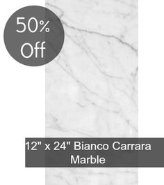 """Discount Glass Tile Store - Bianco Carrara 12"""" x 24"""" Polished Marble Tile, $5.97 (http://www.discountglasstilestore.com/bianco-carrara-12-x-24-polished-marble-tile/)"""