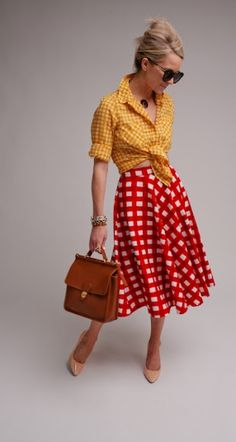 Red and White Checkered Skirt Revisited