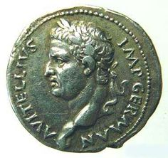 Vitellius (69 AD) give to Caesar what is Caesar's Ancient Roman Coins, Ancient Rome, All Currency, World Coins, Rare Coins, Coin Collecting, Fountain Pen, Stamp, God