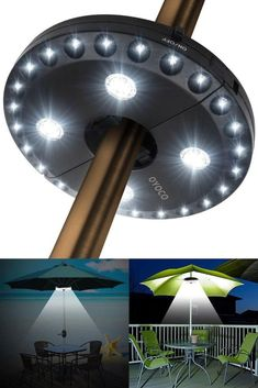 Umbrella Patio Light Durable Cordless Pool Outdoor 3 Modes Pole Light 28 LED #UmbrellaPatioLight #Modern
