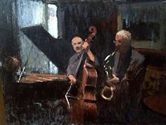 Jazz Scene by Joseph Gyurcsak Jazz Club, Joseph, Scene, Contemporary, Music, Artist, Painting, Musik, Artists