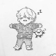 My bias and his cute little Shooky is sleeping Not Disney chanel.so I draw BTS Tsum Tsum haha Airport fashion! Bts Chibi, Kpop Drawings, Disney Drawings, Drawing Disney, Fan Art, Fanart Bts, Taehyung Fanart, Bts Fans, Bts Wallpaper