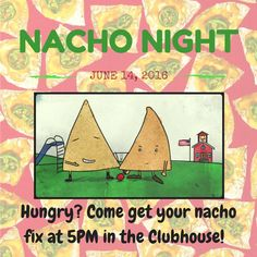 Grab some grub tonight at 5PM in the Clubhouse! #doknachonight #fiesta #whoneedstacobell #nachobusiness