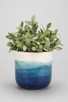 Watercolor Planter - idea for ceramics painting