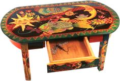 Table with Drawer   Helen Heins Peterson      42 inches by 24 inches by 18 inches (110 cm x 60 cm x 46 cm)  Price $ 2,700.00