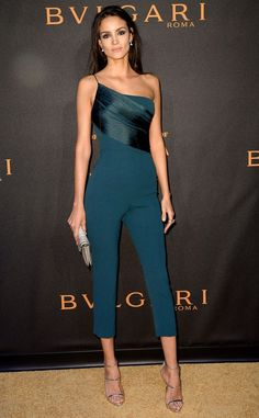 One Shoulder Jumpsuit Teal - Jumpsuits and Celebrity Inspired Fashion Mode Chic, Mode Style, Classy Outfits, Stylish Outfits, Look Fashion, Womens Fashion, Fashion Design, Mode Ootd, One Shoulder Jumpsuit