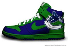 I would rock these kicks with my Canucks Jersey. Hell yes! Vancouver Canucks, Hockey Logos, Seattle Seahawks, Nhl, Kicks, Fans, Sneakers Nike, My Style, Sports