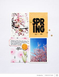 SC Ex Sunday Sketch   April 2016 -->Picture 1 of Spring *Scrapbook Kit Only* by qingmei