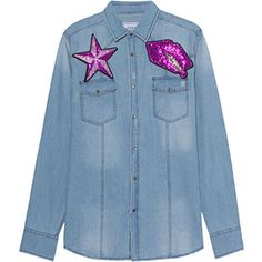 FORTE COUTURE Caterina Blue // Denim shirt with patches