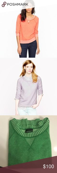 J.Crew Collection Italian cashmere sweatshirt Luxe crew neck J.Crew Collection pullover with sweatshirt inspired details. J. Crew Sweaters Crew & Scoop Necks
