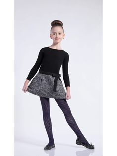 Pantyhose Outfits, Tights Outfit, Young Girl Fashion, Boy Fashion, School Uniform Dress, Mommys Girl, Cute Girl Outfits, Black Tights, Heidi Klum