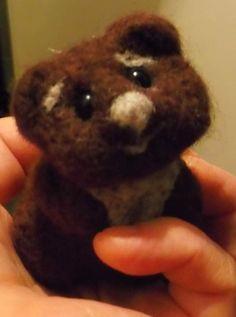 Мишка,игрушка.шерсть натуральная,ручная работа,валяние сухое by FeltAndHandmade…