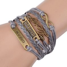 Dream Bracelet Love Believe  Infinity by sherrishempdesigns