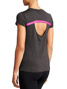 Uppercut Tee - Unstinkable technology keeps this wicking, looser-fitting tee with a ventilating cutout back smelling fresh even after a workout.