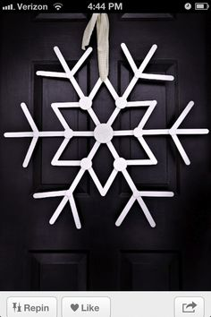Popsicle sticks snowflake!