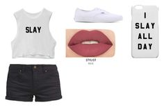 """I slay all day"" by baileesandy on Polyvore featuring TWINTIP, Vans and Smashbox"