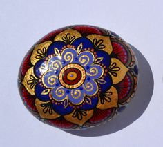 Small Hand Painted Rock Magic Rock Pebble by PleasureForTheSOUL