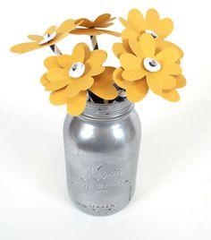 Silhouette America Blog | Simple Spring Decor :: Paper Flowers