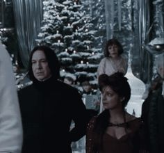 "You can see the silent pain on Snape's face as what must be memories of Lily passing through his mind. potionsprincessmaster: ""Look at how much she wants to dance with him hahaah "" Many of us have looked at him the same way, even if we don't want to dance."