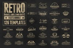 126 Retro Badges, Labels & Crests by Zeppelin Graphics on @creativemarket