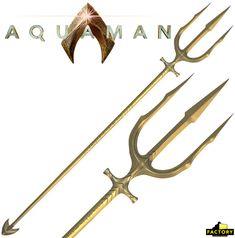 Réplica Perfeita do Tridente do Aquaman com 1,83m de Comprimento Atlantis, Small Tattoos, Tattoos For Guys, Trident Tattoo, Trishul, Comic Villains, Weapon Concept Art, Cosplay Diy, Fantasy Weapons
