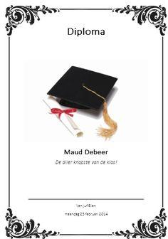 Via deze site: http://www.diplomamaker.nl/ kunt u leuke diploma's maken om uit…