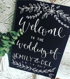 Personalised Blackboard Wedding Welcome Sign – The Wedding of My Dreams