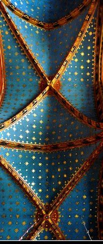 blue church ceiling | the visually stunning ceiling in the picture to the right
