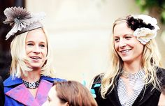 misshonoriaglossop:  Lady Davina and Lady Rose, daughters of the Duke and Duchess of Gloucester