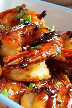 Gemarineerde scampi Diner Recipes, Seafood Recipes, Asian Recipes, Healthy Recipes, Tapas, Chicken Curry, Bbq Marinade, Grilling Sides, Wok