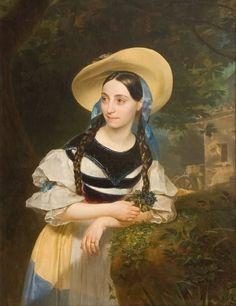 Fanny Persiani como Amina, 1834 por Karl Brullov