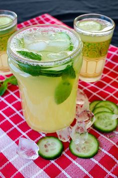Fresh Cucumber Lemonade - You'll find tons of ideas at http//:glamshelf.com so you can inspire yourself and enjoy really delicious summertime flavored lemonades