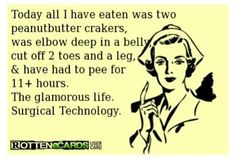 The glamorous life!