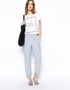 ASOS Soft Ankle Grazer Trousers