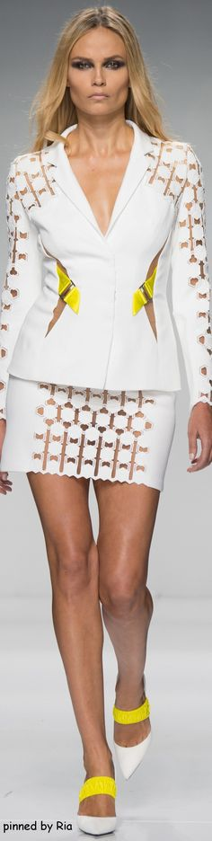 Atelier Versace Spring 2016 Couture women fashion outfit clothing style apparel @roressclothes closet ideas