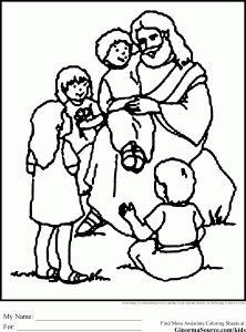 jesus coloring pages children