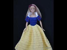 Blue collection - Colete para a barbie de croche - LiiArt - YouTube