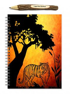 Tiger Notebook, Portable Sketchbook, Gifts For Guys, Teacher Gifts, Tiger Gifts, Cool Notebook, Plain Journal, Animal Journal, Mens Journals - pinned by pin4etsy.com