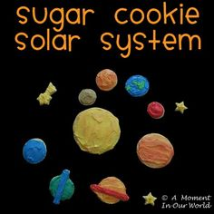 We have been learning about the Solar System and since the boys love to cook, I thought it would be fun for them to help make some a sugar cookie solar system.  First we made the sugar cookies and when they were cool, we iced them. We made eight different coloured icing and mixed …